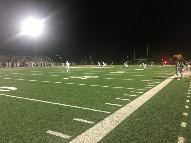 Gilbert rivals Campo Verde and Mesquite get ready for the third quarter after a lightning delay.