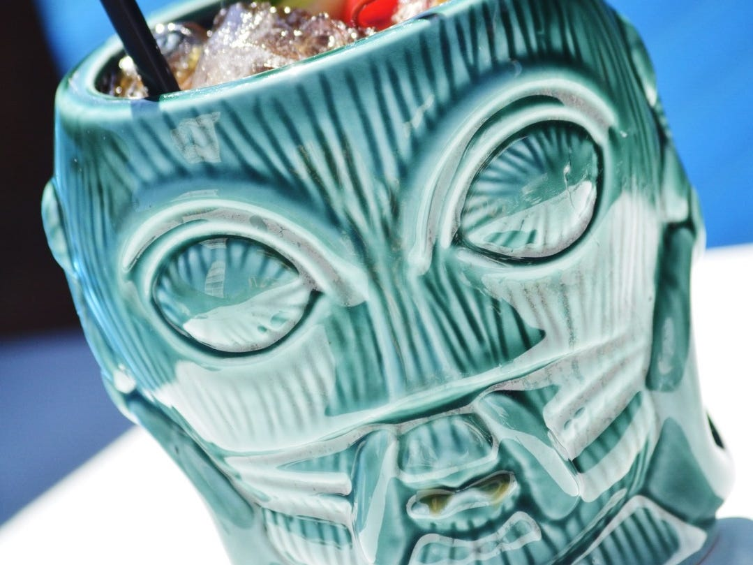 The zombie cocktail at Hula's Modern Tiki.