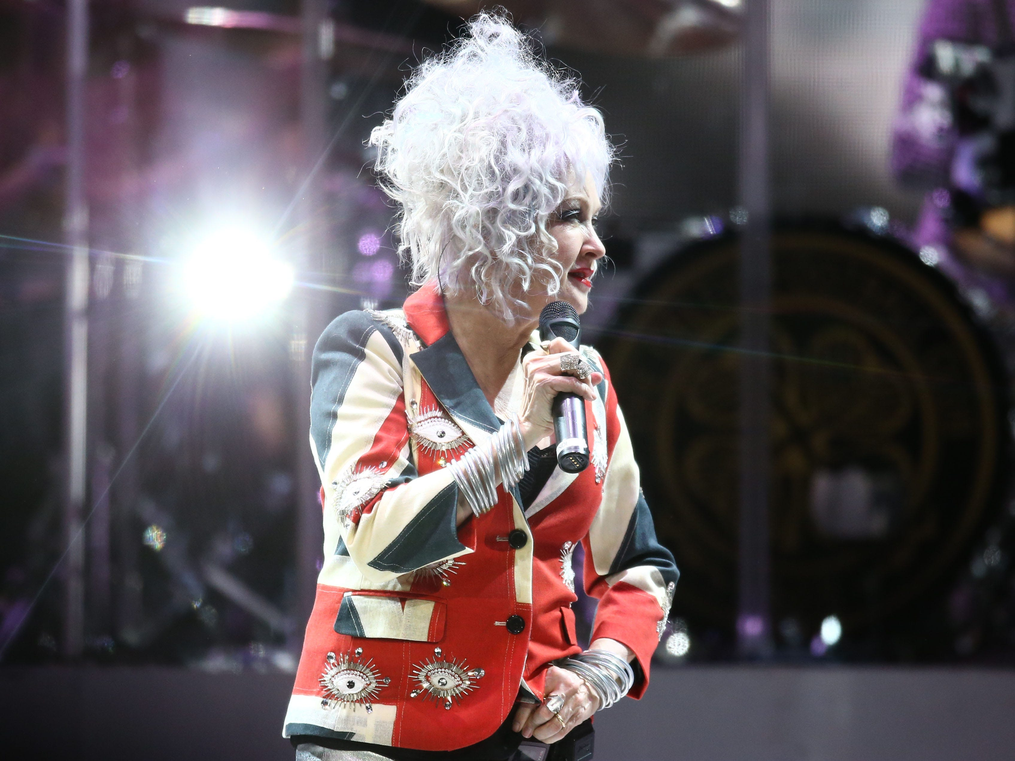 Cyndi Lauper performs on Aug. 24, 2018, at Talking Stick Resort Arena in Phoenix, Ariz.