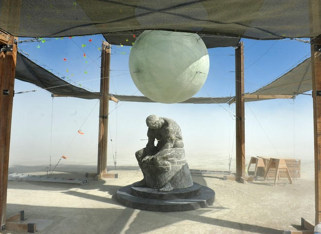 On Saturday artists and burners set up for a week on the playa.