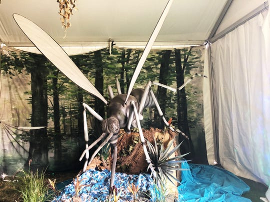 """Bug-Ology is a new exhibition at the Oregon State Fair that features interactive educational stations, an assortment of edible bug treats at the """"Bug Bites Bar,"""" animatronic and live bugs."""