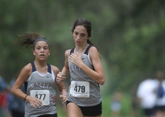 Maclay's Ella Porcher runs at the 2018 Cougar XC Invitational at Elinor Klapp-Phipps Park.