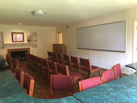 The large classroom at the Lifelong Learning Center on Hampstead, can seat up to 35 people.