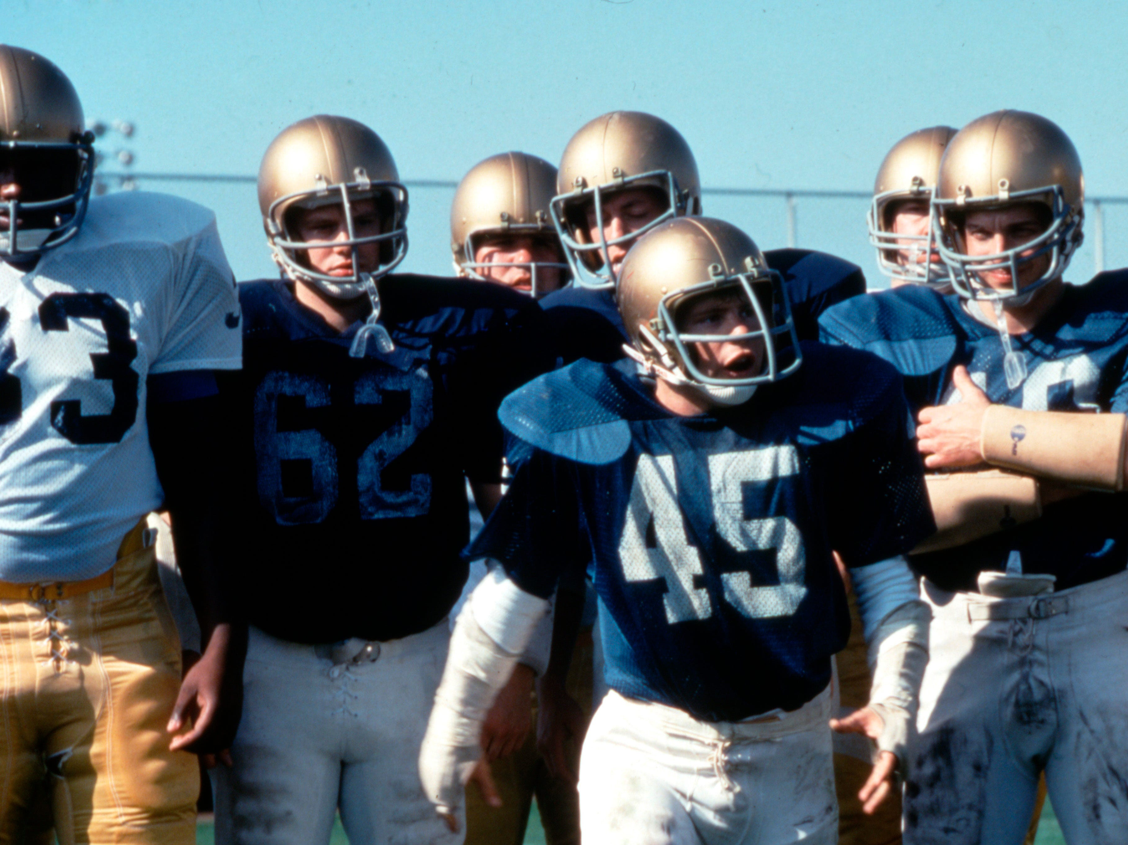 Rudy Ruettiger (Sean Astin) played his heart out on Notre Dame's practice squad.