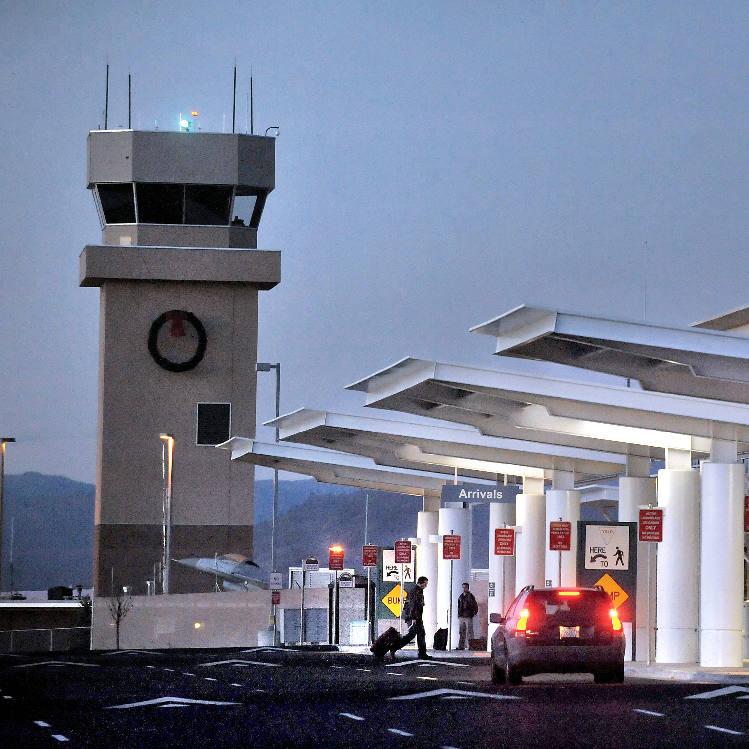 In this Dec. 15, 2011 file photo, the Medford airport tower and terminal are shown.