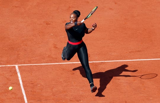 Serena Williams and her catsuit at the 2018 French Open.