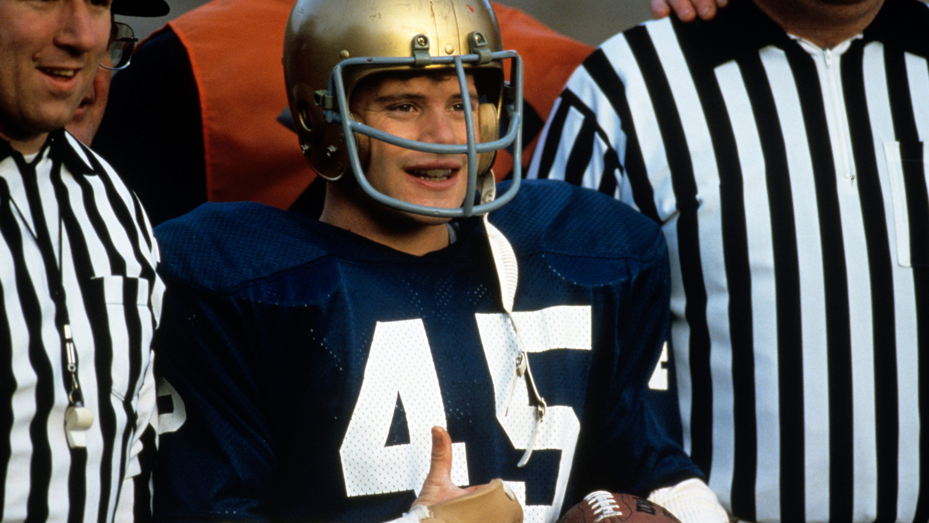 "Rudy Ruettiger (Sean Astin) came out triumphant in the ending of ""Rudy."""