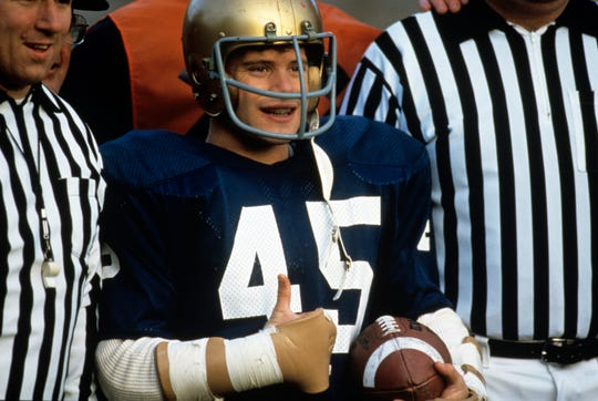 """Rudy Ruettiger (Sean Astin) came out triumphant in the ending of """"Rudy."""""""