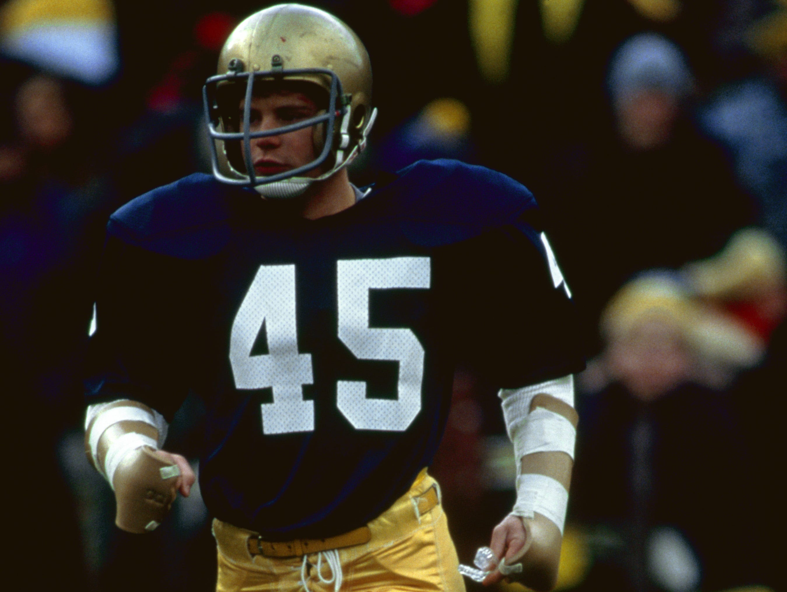 "Rudy Ruettiger (Sean Astin) gets in his final game at Notre Dame in ""Rudy."""