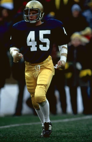 """Rudy Ruettiger (Sean Astin) gets in his final game at Notre Dame in """"Rudy."""""""