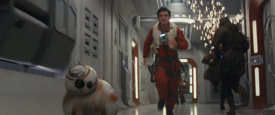 "BB-8 and Poe Dameron (Oscar Isaac) return in ""Star Wars: Episode IX."""