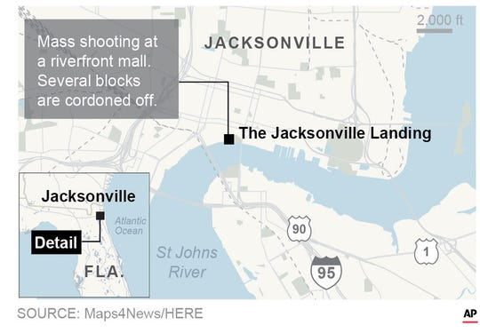 Jacksonville shooting: Many details about the shooting were not immediately clear, including how many people were dead.