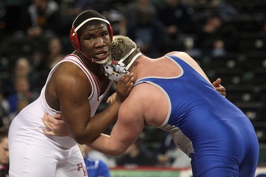 Murder victim Davontae Randall at the NJSIAA State Wrestling Championships in Atlantic City in 2015.