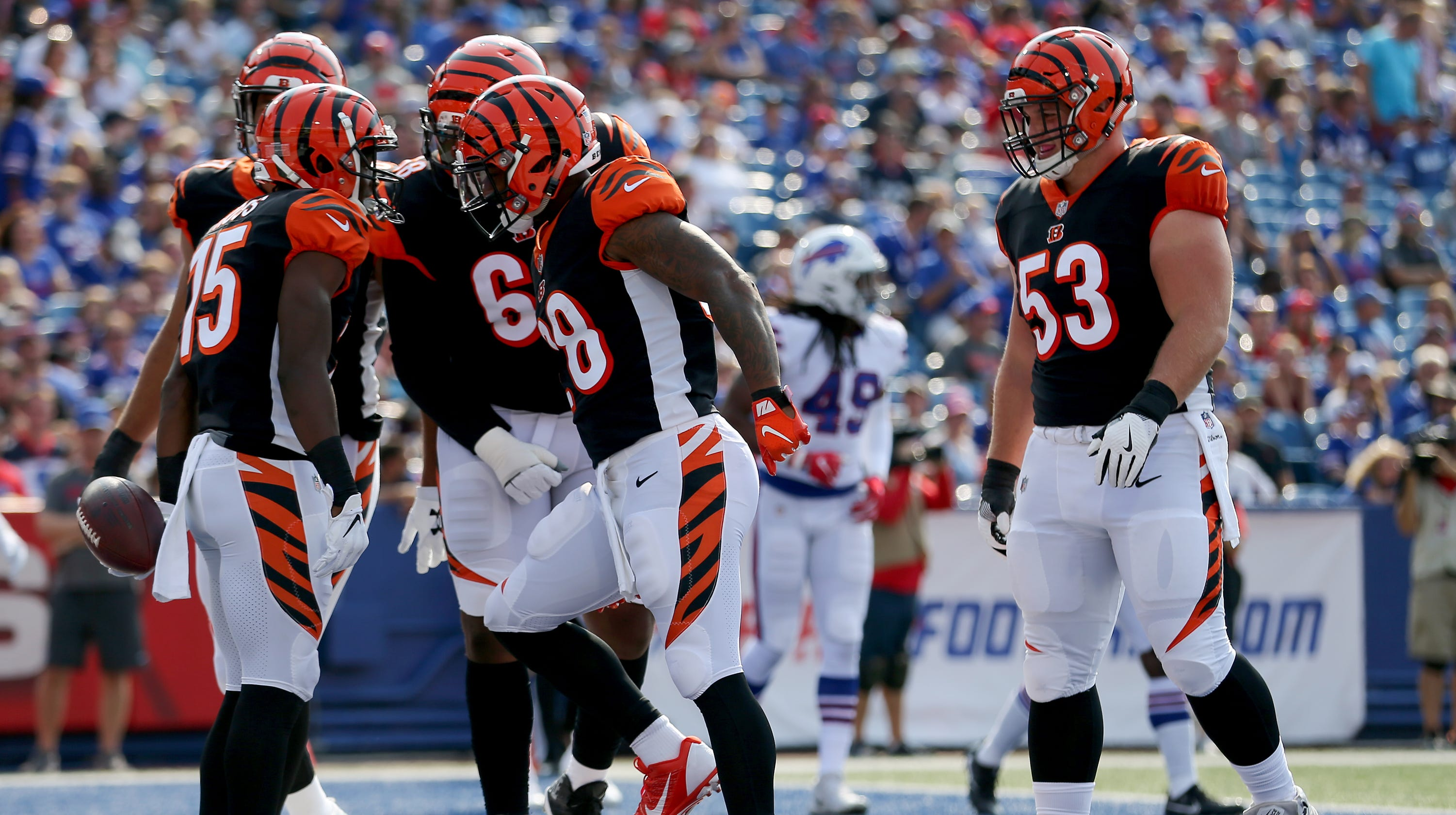c96e79f7a7a NFL Week 1 Cincinnati Bengals  Young players shining in stripes