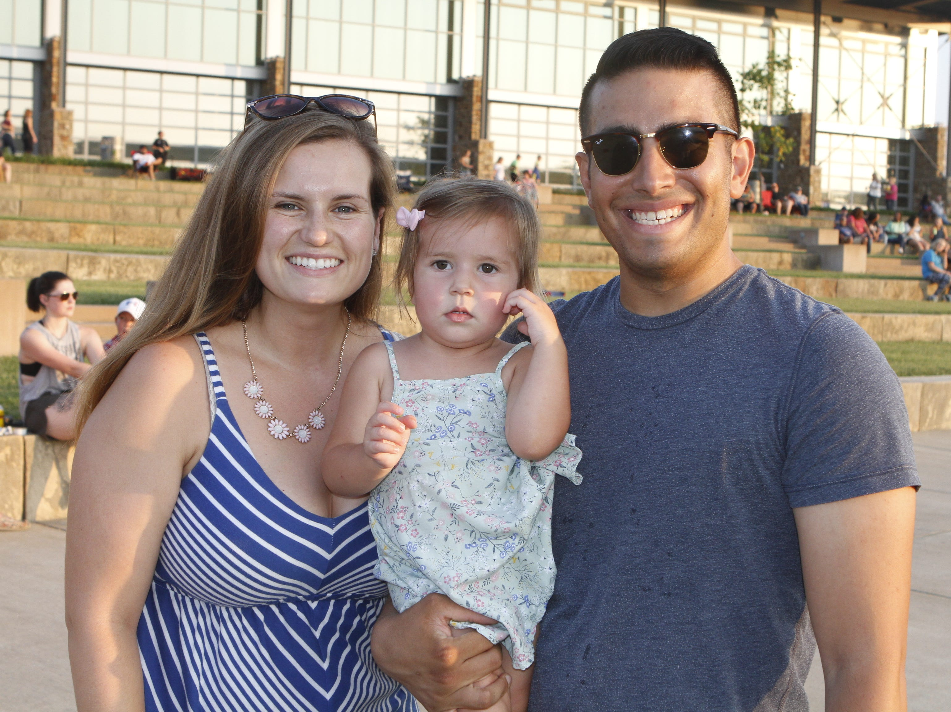 Jessica Sofia And Xavier Martinez at Saturday's Road to Riverfest, a Liberty Park summer concert series event.