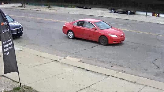 Detroit police are seeking two persons of interest in a Saturday shooting. They may have been driving this car.