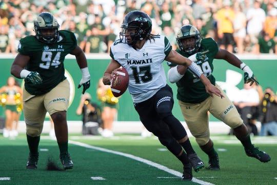 Hawaii quarterback Cole McDonald threw for more than 3,800 yards last season.
