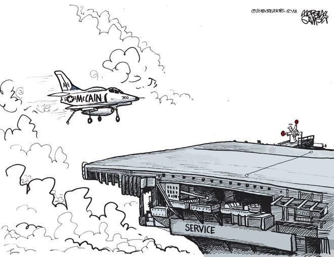 U.S. Sen. John McCain cleared for final landing.
