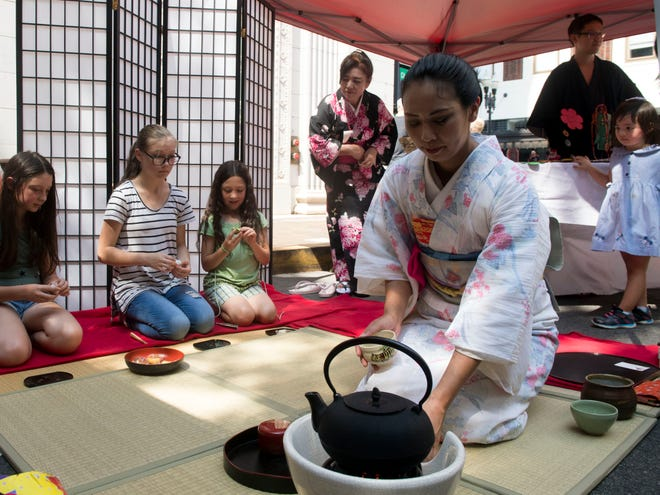 A Japanese tea ceremony at the Knox Asian Festival at  Market Square on Sunday, August 26, 2018.