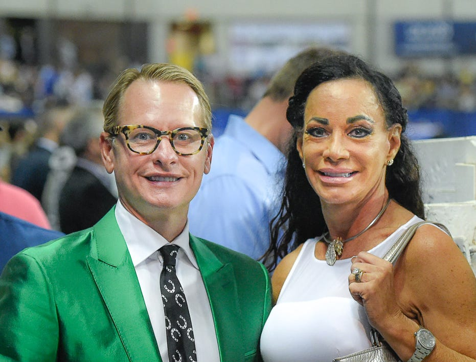Carson Kressley and Annika  Bruggeworth on the rail during The World Championship Horse Show
