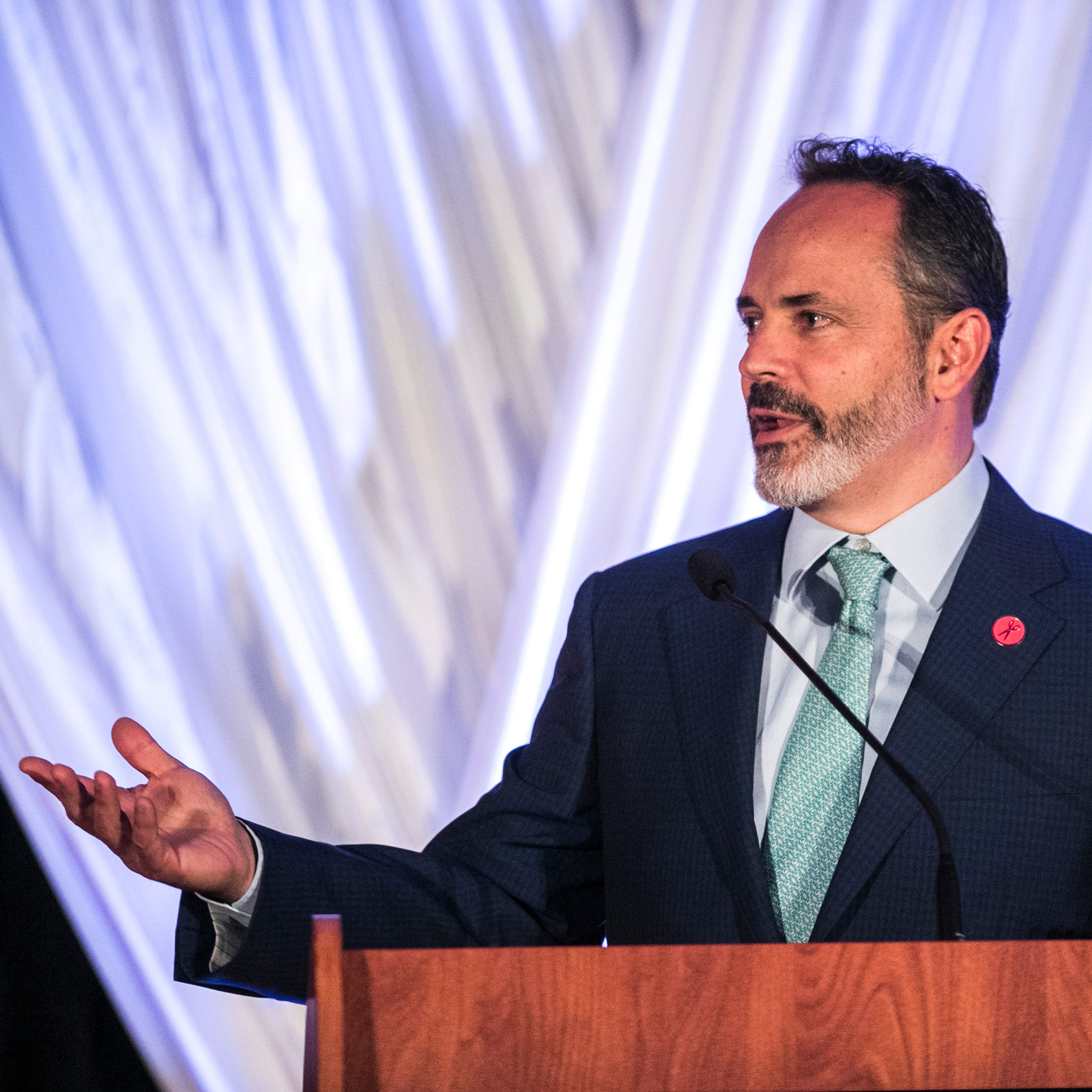 Gov. Matt Bevin said 'You bet I'm running again' as he announced his intent to run for governor again at the dinner for Kentucky Republicans at the annual Lincoln Dinner in Lexington Saturday night. Aug. 25, 2018