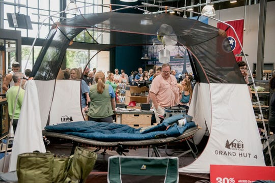 Customers filled Memphis' REI during its opening weekend. The store offers recreational equipment and apparel.