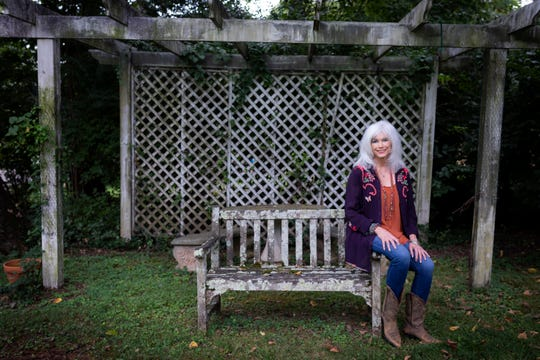 Emmylou Harris is photographed on her property Friday, Aug. 24, 2018.