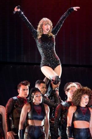 Taylor Swift performs at Nissan Stadium in Nashville, Tenn., Saturday, Aug. 25, 2018.