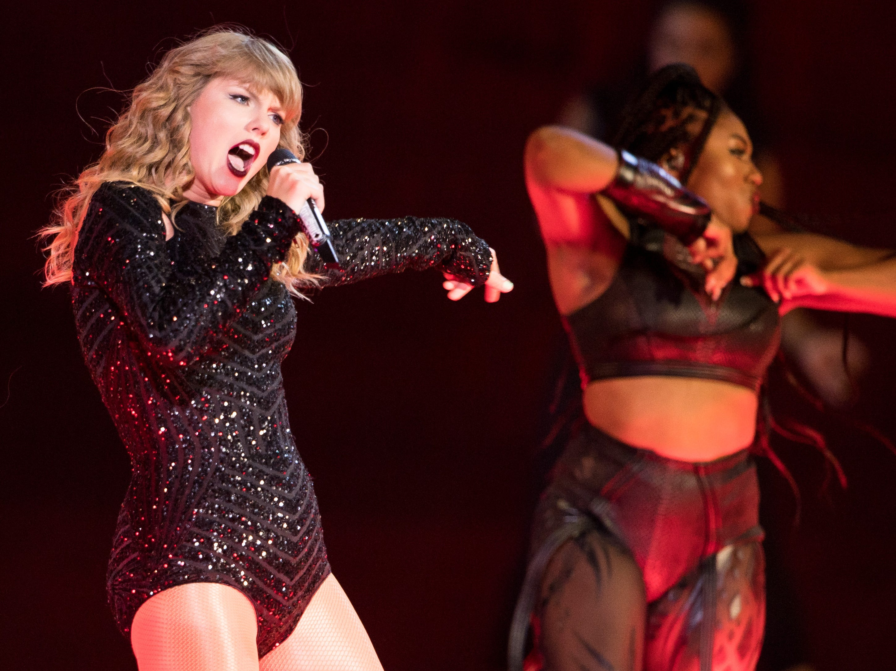 Taylor Swift performs at Nissan Stadium in Nashville, Tenn., Saturday, Aug. 25, 2018.