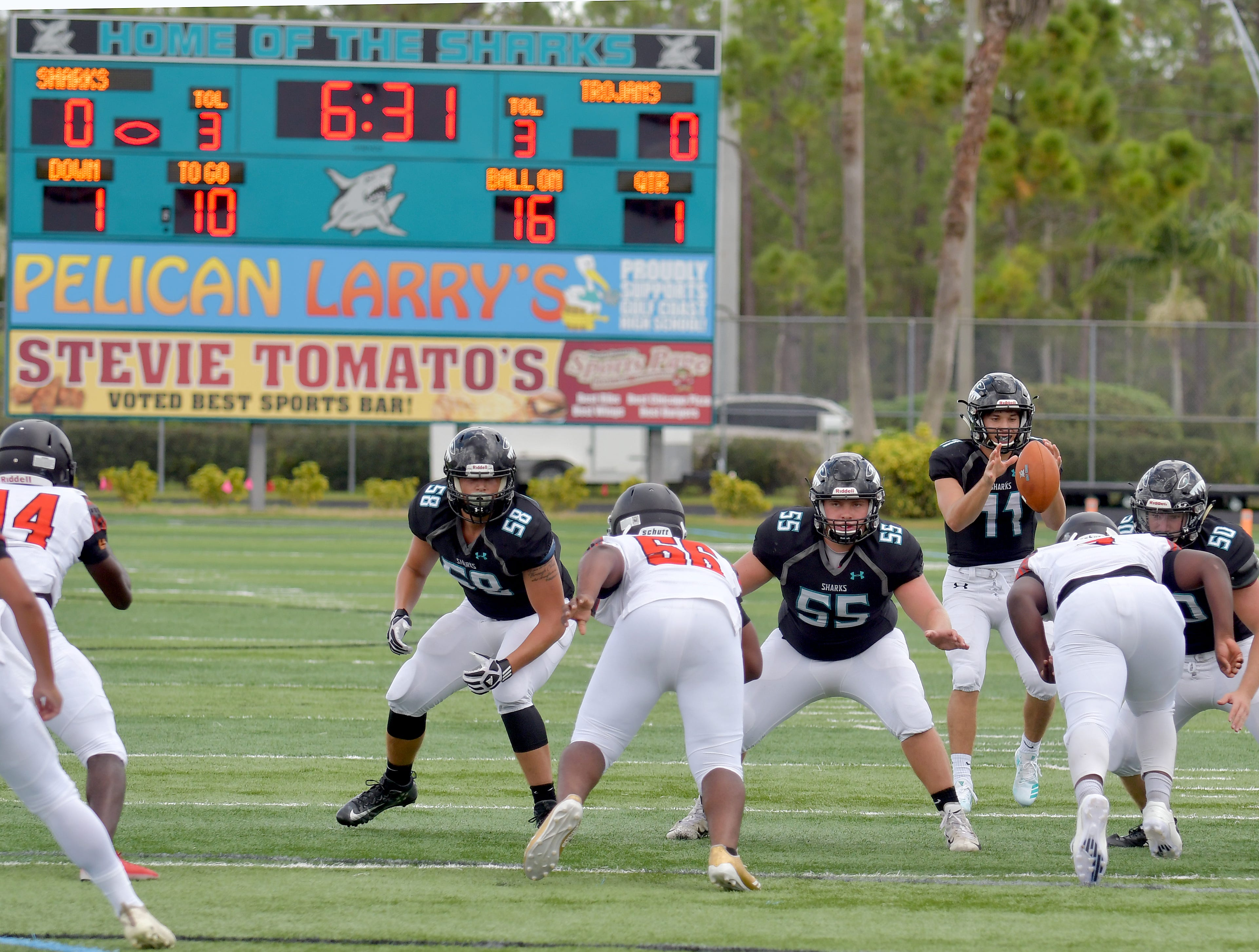 Gulf Coast High School during their game with Lely High School in Naples, on Saturday, Aug. 25, 2018.