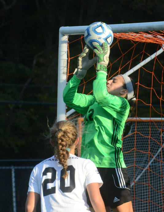 Goalie Emma Miller of Demarest