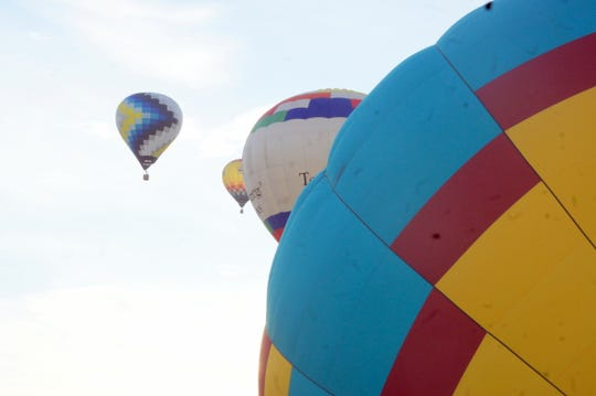 Lighter-than-air balloons dotted the skies over Deming and Luna County.
