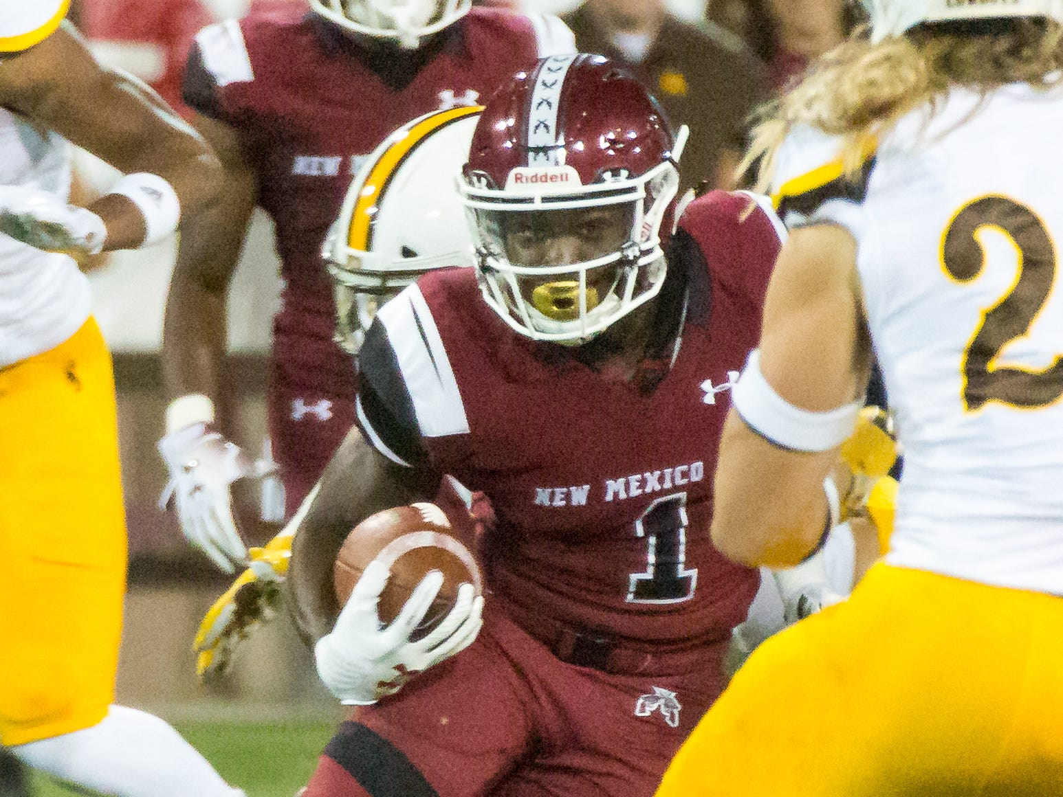 New Mexico State's Jason Huntley has developed into all-purpose threat