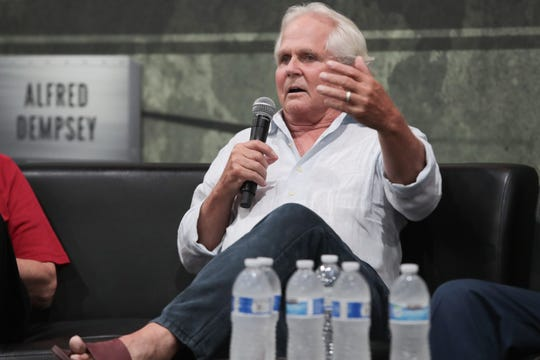 """Leave it to Beaver"" star Tony Dow speaks on a panel at Comic Con Palm Springs, Saturday, August 25, 2018."
