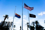 Gov. Doug Ducey ordered flags at all state buildings to be lowered to half-staff Sunday, Oct. 6 in honor of National Firefighters Memorial Service day.