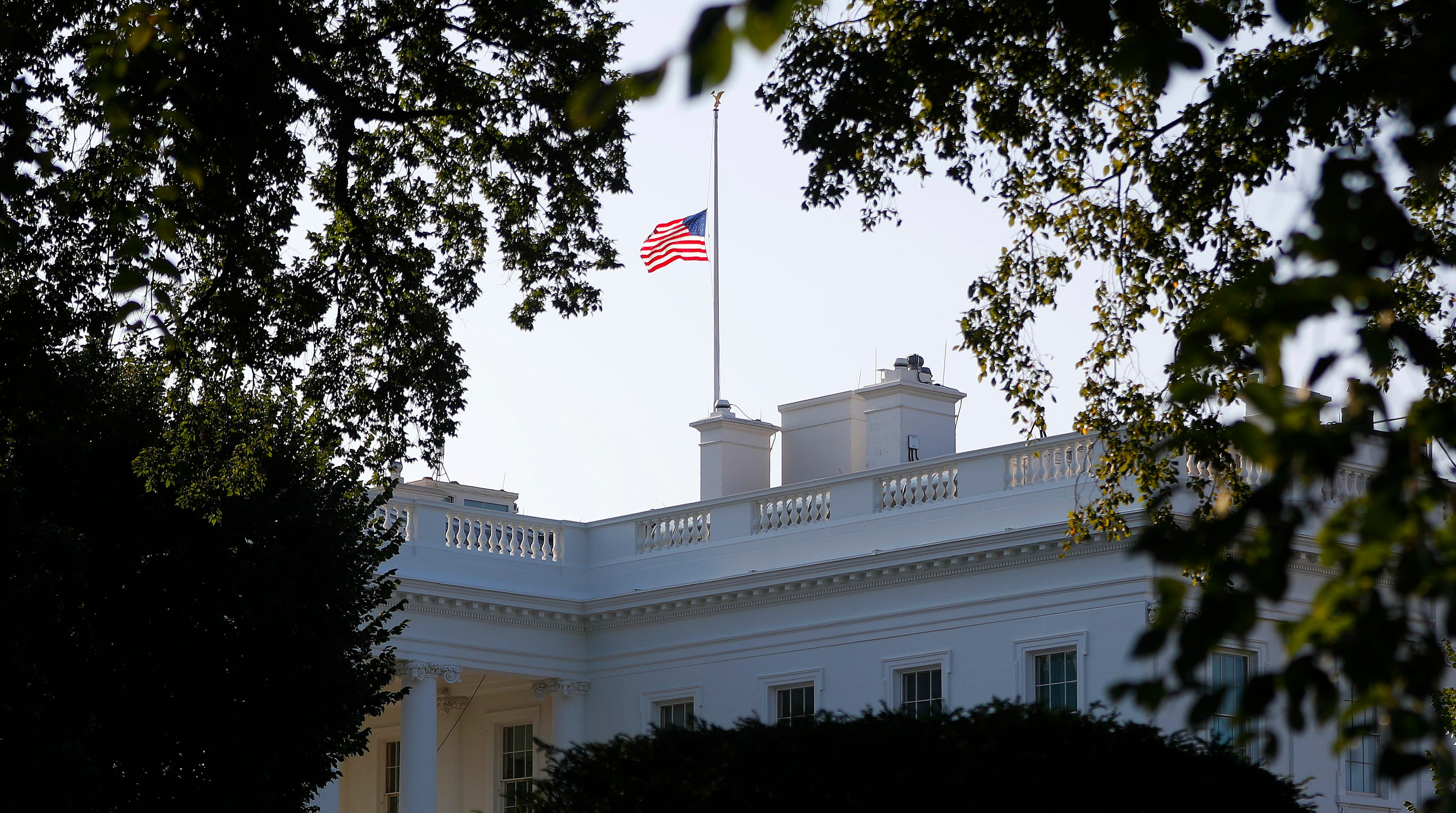 Pleasing President Trump Lowers Flag Again For John Mccain After Download Free Architecture Designs Scobabritishbridgeorg
