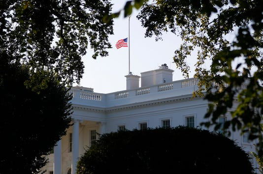 White House flags
