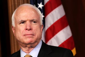 In this March 28, 2012, file photo, Sen. John McCain, R-Ariz. listens during a news conference on Capitol Hill in Washington.