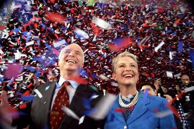 Sen. John McCain and his wife, Cindy.
