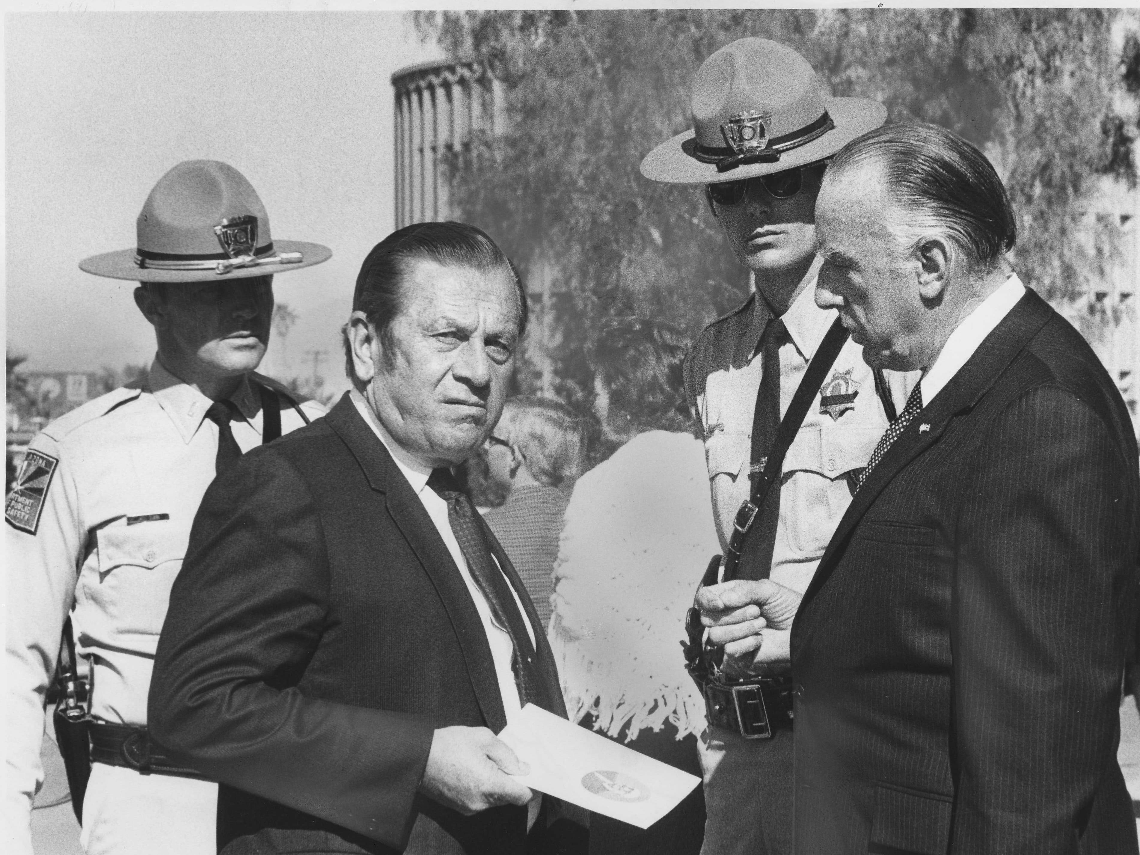 Attendees at the funeral of former U.S. Sen. Carl Hayden in Phoenix in 1972.