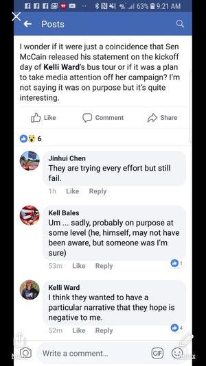 Kelli Ward comment on Twitter.