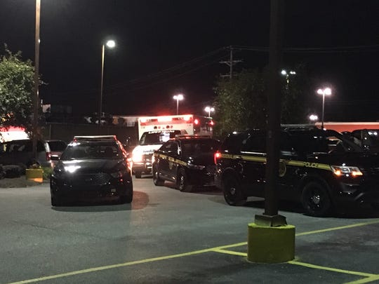 Numerous police vehicles and medical personnel were at the scene of a shooting Saturday night at a Motel 6 in Manchester Twp.