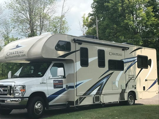 The Molinaro family of five is campaigning in this recreational vehicle.