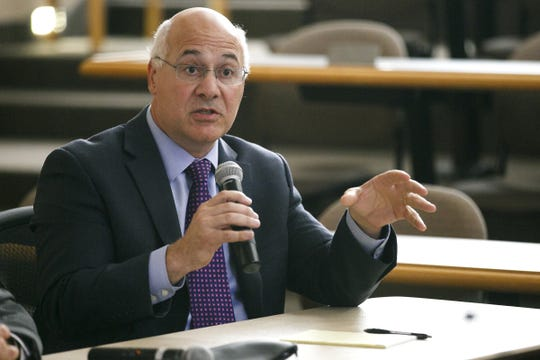 Brad Avakian, a candidate for the office of Secretary of State, talks to the Statesman Journal at an endorsement interview on Sept. 27, 2016, at Willamette University.