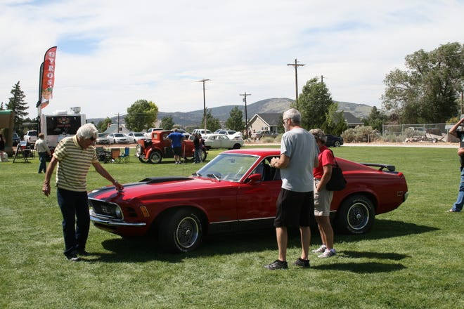 A car show was held Aug. 25, 2018, as part of Cornfest in Enterprise.