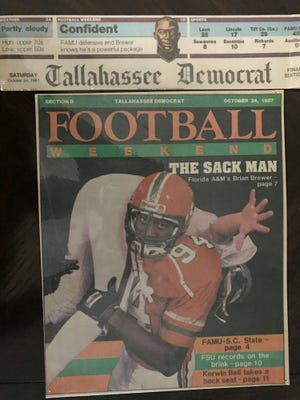 FAMU Hall of Fame Class of 2018 inductee Bryan Brewer made headline news during his days on campus. This cover shot posted in the football tab of the Tallahassee Democrat on Oct. 24, 1987.