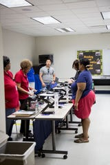 Early voting at the BL Perry Branch of the Leon County Library Sunday.
