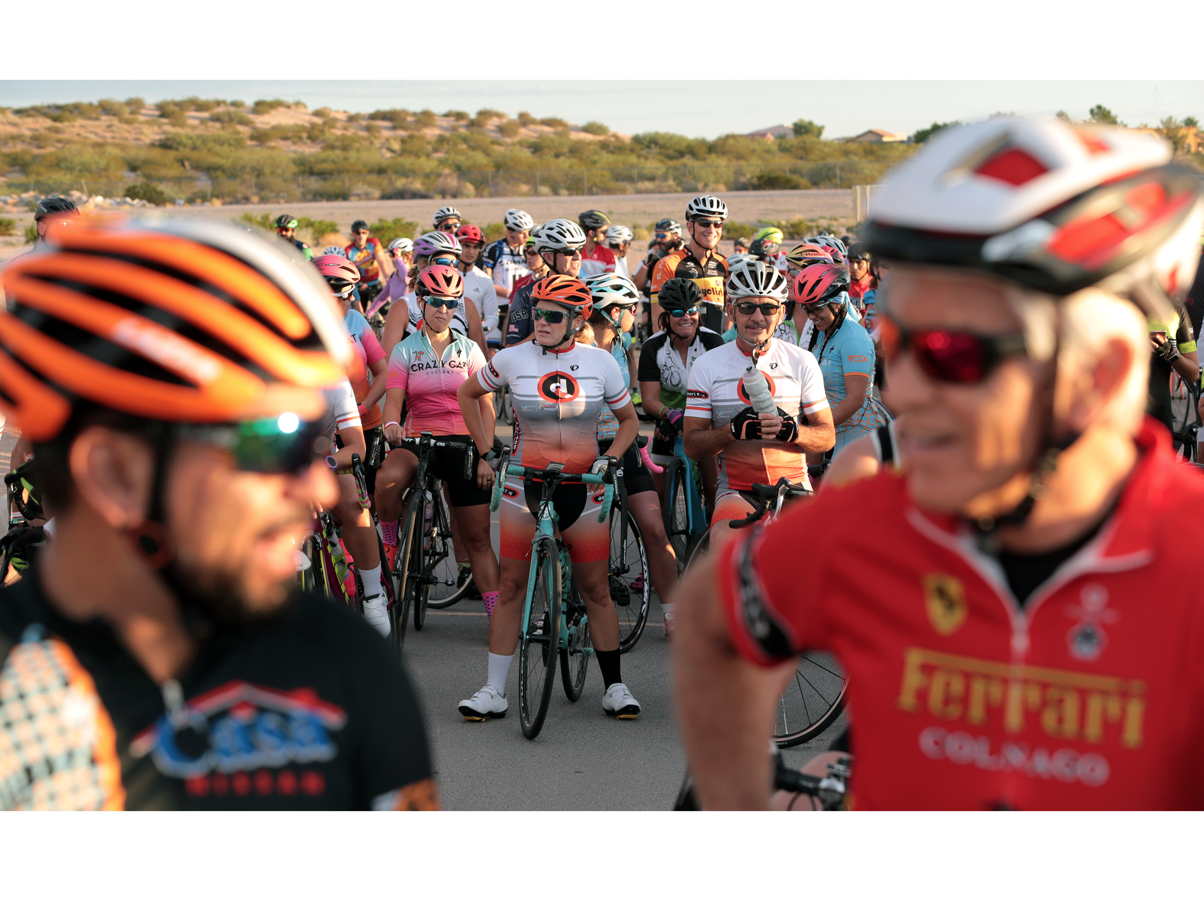 Cyclists competed Sunday morning in the Tour de Tolerance 50k race hosted by the El Paso Holocaust and Study Center. The race weaved through the Rio Grande valley in New Mexico before arriving back at Santa Teresa High School.