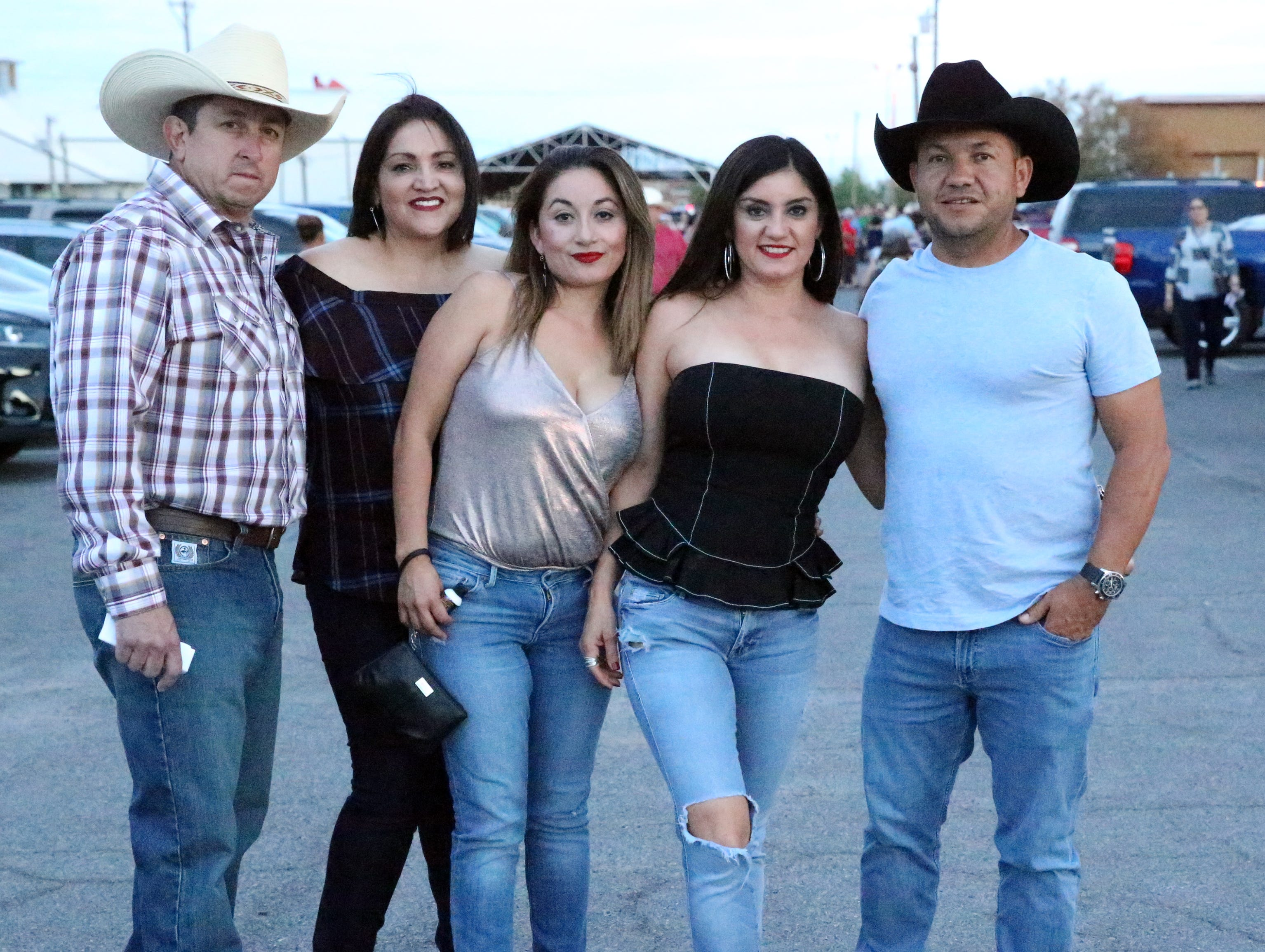 Rick Montes, Rosa Montes, Nancy Aguilar, Juanita Garcia and Charlie Garcia.