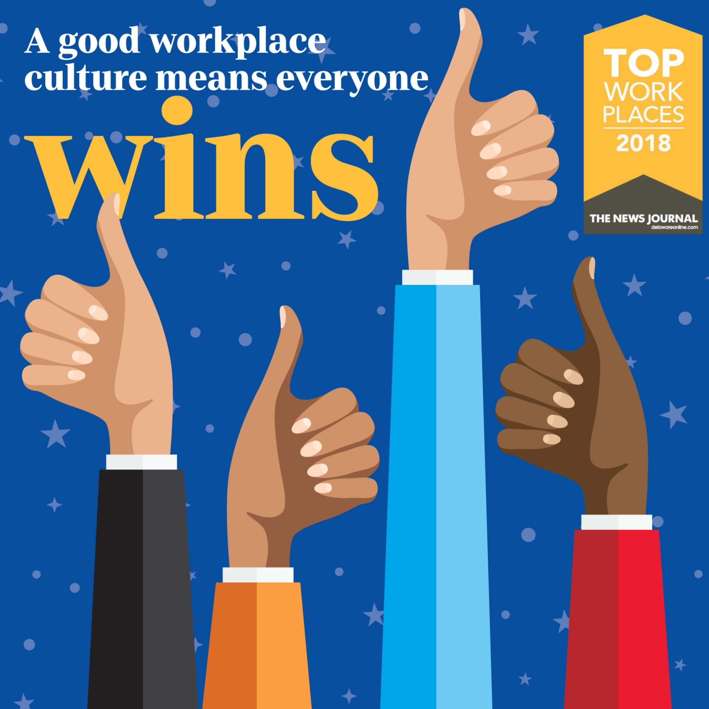 Delaware's 2018 Top Workplaces